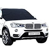 Car Window Sun Shade Windshield Snow Cover, Latest Style Super Light&Thin Windproof Magnetic Edges Windshield Snow Ice Frost Sun Shade Cover Guard/Protector for Cars, SUVs, Trucks & Vans