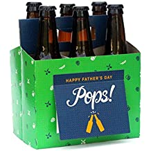 Best Fathers Day Gifts from Daughter or Son - Six Pack Greeting Card Box (Set of 4) - Use as Unique Fathers Day gift baskets or decor, Fathers Day Beer Gifts for Grandpa, for Husband, from Wife