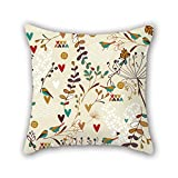 NICEPLW leaf throw cushion covers 16 x 16 inches / 40 by 40 cm for living room,gf,play room,bf,family,dance room with double sides