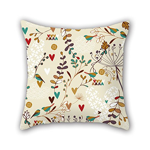 NICEPLW Leaf Throw Cushion Covers 16 X 16 Inches / 40 By 40 Cm For Living Room,gf,play Room,bf,family,dance Room With Double Sides (Paris Zapatos)