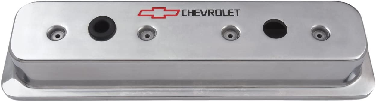 Proform 141-130 Small Block Chevy Centerbolt Tall Aluminum Valve Covers Polished