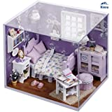 Kisoy Romantic and Cute Dollhouse Miniature DIY House Kit Creative Room Perfect DIY Gift for Friends,Lovers and Families(Honey Sunshine)