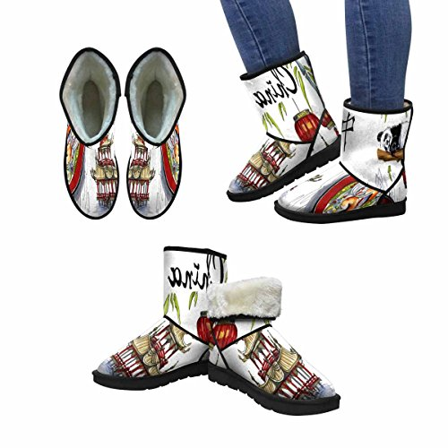 InterestPrint Womens Snow Boots China Travel Sketch Unique Designed Comfort Winter Boots Multi 1 Ss3nU