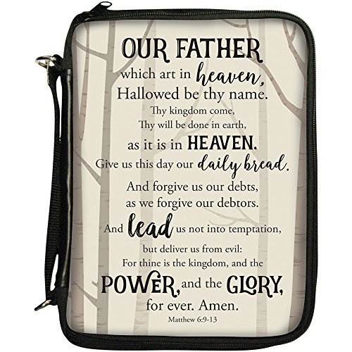 """Office Products : African American Expressions - The Lord's Prayer Book/Bible Organizer (7.5"""" x 10.5"""" x 2.5,"""" Removable Shoulder Strap Included) BO-140"""