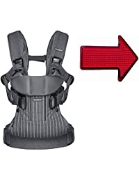 Baby Bjorn Baby Carrier One With Safety Reflector - Pinstripe/Gray BOBEBE Online Baby Store From New York to Miami and Los Angeles