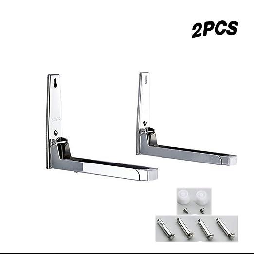 2 piezas Plata Acero Brazos extensibles Horno de microondas ...