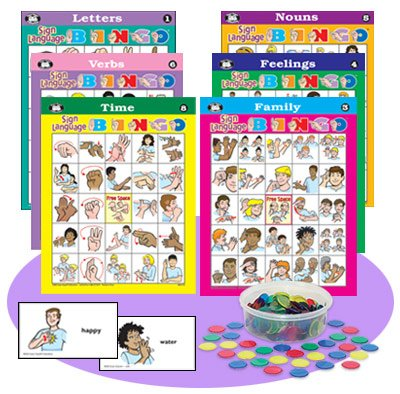 American Sign Language Bingo Game - Super Duper Educational Learning Toy for Kids