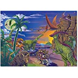 "Melissa & Doug Land of Dinosaurs Jigsaw Puzzle (Wipe-Clean Surface, 60 Pieces, 10.9"" H x 7.4"" W x 1.8"" L, Great Gift for Girls and Boys - Best for 6, 7, 8 Year Olds and Up)"
