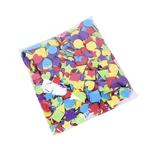 Modern Bethel Foam Shapes Pack of 1000 Mini Felt Shapes Mini Heart and Star Shapes for DIY Decoration