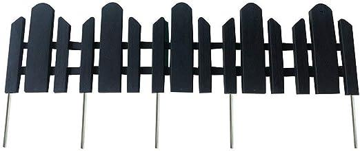 ABBA ECO - Juego de 6 vallas decorativas de plástico reciclado para vallas, jardín, jardín, jardín, paisaje, 23 x 6 pulgadas, color negro: Amazon.es: Jardín