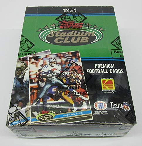 1991 Topps Stadium Club Football Box (BBCE) (BBCE Wrapped)