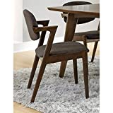 Coaster 105352 Home Furnishings Side Chair (Set of 2), Dark Walnut