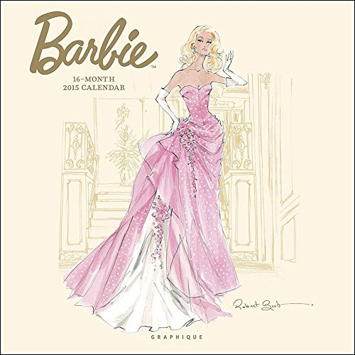 2015 BARBIE WALL CALENDAR by Designer Robert Best (Robert Best Barbie Calendar)