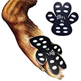 #8: PICK FOR LIFE Dog Paw Protection Anti-Slip Traction Pads with Grip - 24 Pieces Self Adhesive Disposable Dog Shoes Alternative (XL# 81+ lbs, Black)