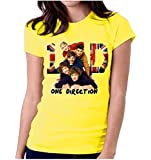 LetsFlaunt One Direction T-shirt Girls Yellow Dry-Fit Nw