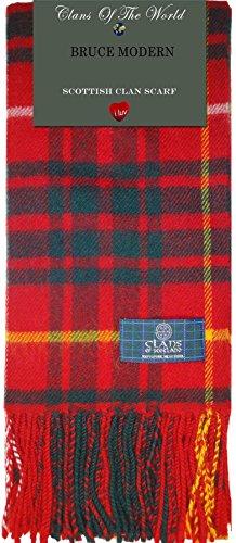 Bruce Modern Tartan Clan Scarf 100% Soft Lambswool (Bruce Clan Tartan)