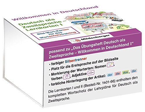 Willkommen in Deutschland – Deutsch als Zweitsprache - Lernkarten I: Bild-Wort-Karten für das Wortschatztraining