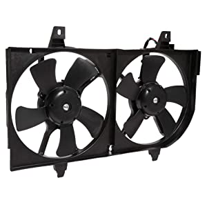 cciyu Radiator or Condenser Cooling Fan Fit for OE 2000-2001 Infiniti I30 2000-2001 Nissan Maxima
