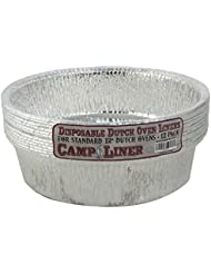 """CampLiner Dutch Oven Liners, 12 Pack of 12"""" 6 Quart Disposable Liners - No More Cleaning or Seasoning. Fits Lodge, Camp Chef, And Other 12-Inch Cast Iron Dutch Ovens"""