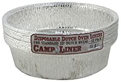 CampLiner preformed Dutch oven liners are a perfect fit when it comes to cooking in the outdoors. Your cleanup will be a snap and you can enjoy the outdoors even more. The liners are strong enough to stir in and even lift your meal out...