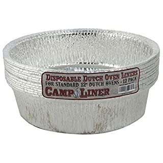 "CampLiner Dutch Oven Liners, 12 Pack of 12"" 6 Quart Disposable Liners - No More Cleaning or Seasoning. Fits Lodge, Camp Chef, And Other 12-Inch Cast Iron Dutch Ovens"