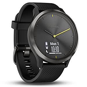 Garmin vivomove HR Hybrid Smart Watch (Large) – Black with Black Band