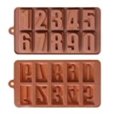 1 X Silicone Number Ice Tray, Candy, Crayon, Soap or Candle Mold