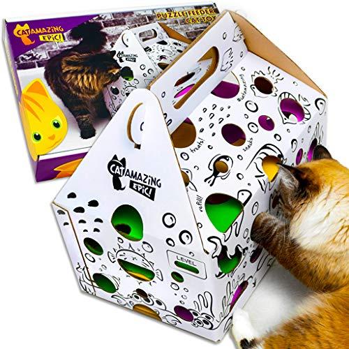 Cat Amazing Epic! -Cat Puzzle Feeder & Treat Hunt Maze -Interactive Cat Toy