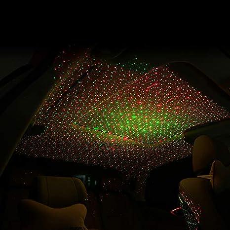 Amazon.com: Directsaler Vehículo Techo Estrella Luz Nocturna ...