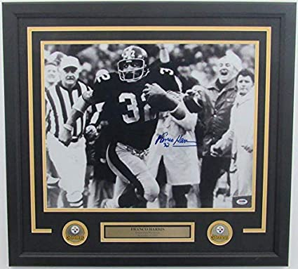 """33e4b79cc6b Franco Harris Steelers Signed Framed Photo""""Immaculate Reception""""  139694 - PSA/DNA Certified"""