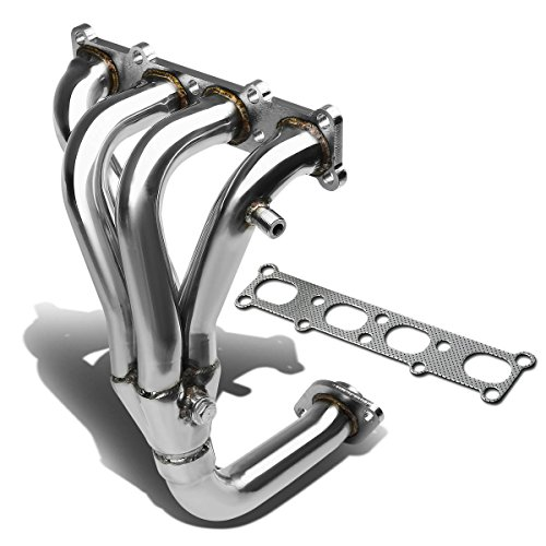 For 01-03 Mazda Protege / 02-03 5 Performance 4-1 Design Stainless Steel Exhaust Header Kit (Polished Chrome)