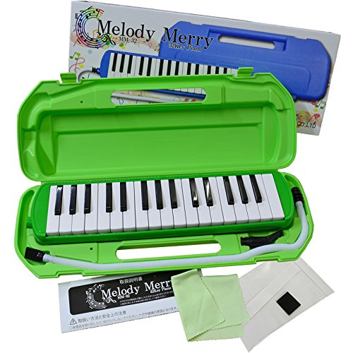 Melody Merry MM-32 GREEN (그린) ☆ 멜로디 메리 건반 하 모니카 32 키 컬러 패키지 들 / Melody Merry MM-32 GREEN Melody Merry Keyboard Harmonica 32 Key Color Package