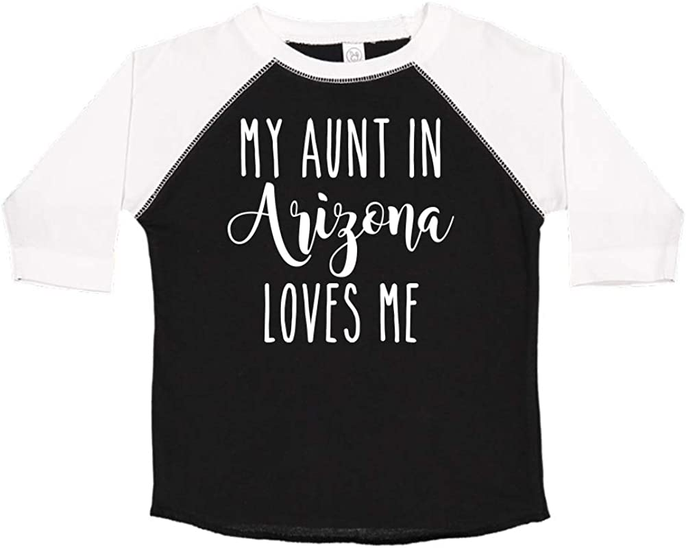 Toddler//Kids Raglan T-Shirt My Aunt in Arizona Loves Me