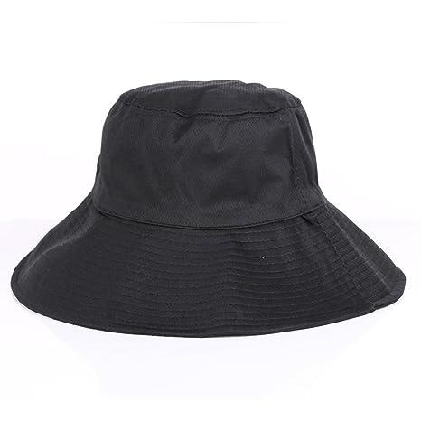 Amazon.com   ALWLj Bucket Hats Men Women Adult Cotton Polyester Double  Sided Wide Brim Flat Top Fisherman Golf Cap Travel Apparel Accessories    Sports   ... b9d874e930f