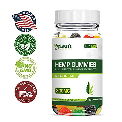 Hemp Gummies for Pain and Anxiety - Improve Sleep - Safe and Natural - Fast Results - Made in USA - Boost Memory, Good Mood, Relieve Stress, Inflammation and Nausea - Sans CBD