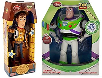Toy Story Figurines : Amazon toy story inch talking buzz lightyear and inch