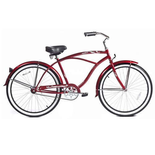 Micargi Tahiti Beach Cruiser Red 26-Inch [並行輸入品]   B06XFTGR11
