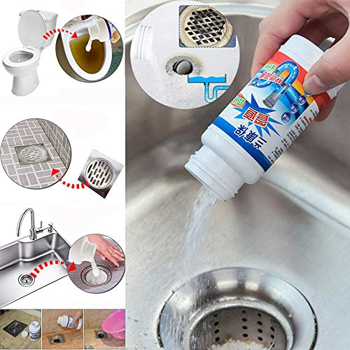 Euone  Pipe Dredging Agent Clearance , Kitchen Sewer Pipes Deodorant Strong Pipeline Dredge Agent Toilet Cleaning Tool ()
