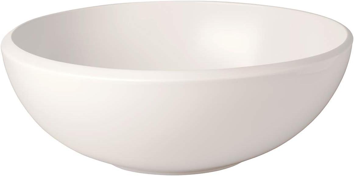 Villeroy & Boch 10 - 4264 - 3160 Fuente Redonda L NewMoon, Ensaladera Grande para Cualquier ocasión, Porcelana Premium, Blanca, Apta para lavavajillas, 4000 ml