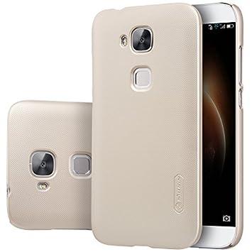 ELTD Huawei G8 Funda, Slim Matte Series funda carcasa case para Huawei G8 + 1 protector pantalla, Oro