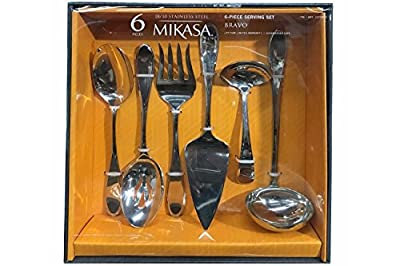 Mikasa Bravo 6 Piece Serving Set in Stainless Steel