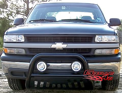 APS BB-CAK001B Black Bull Bar Bolt Over for select Chevrolet Avalanche 1500 Models (06 Silverado Push Bar)