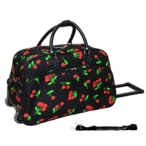 World Traveler 21-Inch Carry-On Rolling Duffel Bag, - Inch Cherry 21