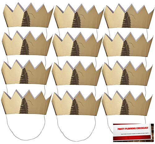 Mini Crowns 12 - Gold with Elastic Strap -