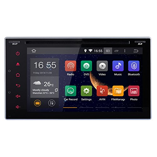 Android 4.4 2DIN 6.2 inch Capacitive HD Multi-touch Screen Car DVD Player Stereo In Dash GPS Navi Navigation Support 3G/Wifi/OBD2/Bluetooth/DVR/1080P/Air Play/SD/USB/AM/FM Radio/7 Color Panel Li