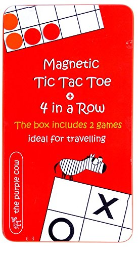 (Magnetic Travel Tic Tac Toe - Includes 4 in a Row Game Too - Car Games , Airplane Games and Quiet)
