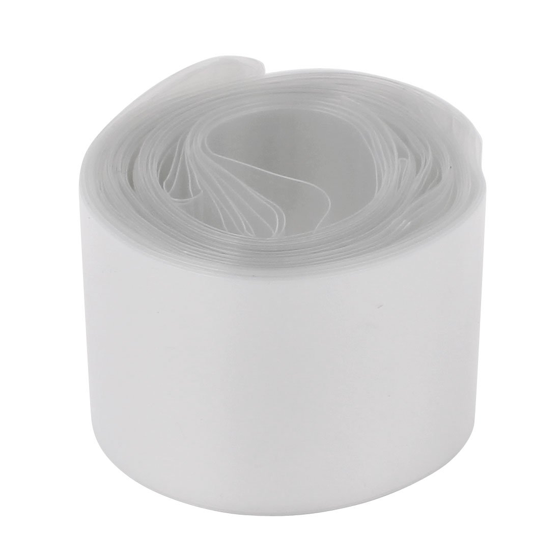 Uxcell a16111400ux0376 30mm Diameter 6M Length PVC Heat Shrink Tube Tubing Clear for 1 x 18650 Battery, PVC