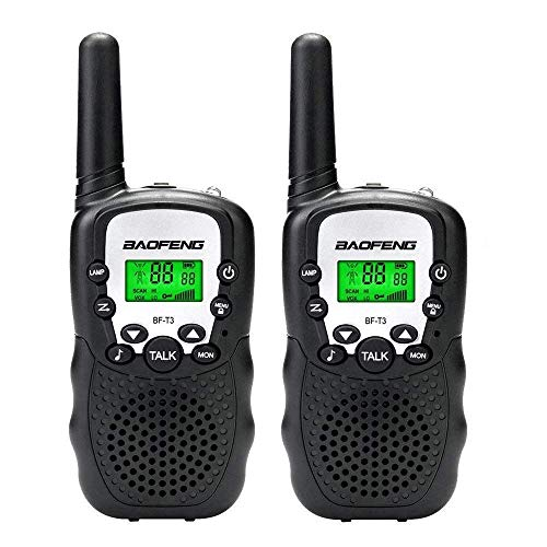 Walkie Talkies for Kids, 22 Channels 2 Way Radio 3 Mile Long Range Kids Toys and Handheld Kids Walkie Talkies, Best Gifts and Top Toys for Boy and Girls Ages 3-12 for Outdoor Adventure Games (1 Pair)