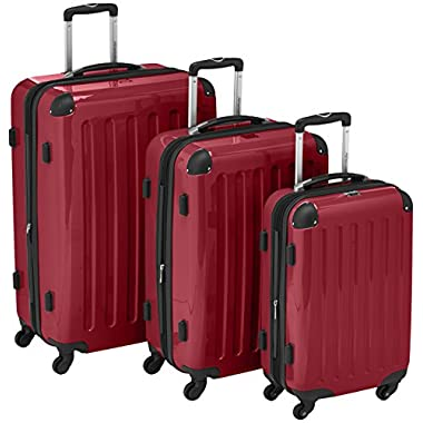 "HAUPTSTADTKOFFER Luggages Sets Glossy Suitcase Sets Hardside Spinner Trolley Expandable (20"", 24"" & 28"") TSA"