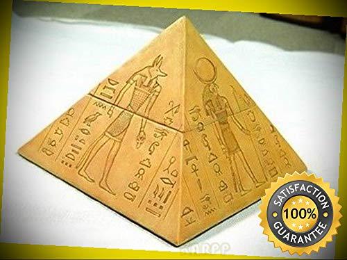 KARPP Egyptian Gods Deities Anubis Horus Hathor Sekhmet Pyramid Jewelry Box Figurine Perfect Indoor Collectible Figurines
